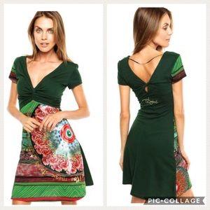 Desigual Green Glam Dress Small ⭐️